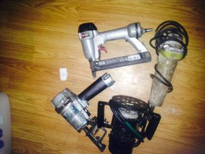 2 nail guns.. 1 grinder.. 1 router for Sale in Norman, OK