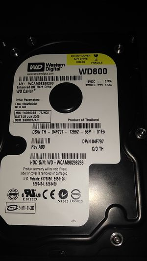 WD800 harddrive for Sale in Fontana, CA