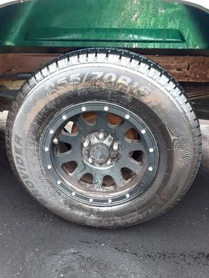Black Rims with the tires for Sale in Cedar Park, TX