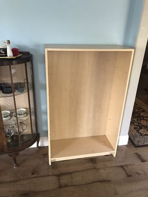 Two IKEA bookcases - both have shelves but one needs new pegs to hold shelving. for Sale in Concord, CA