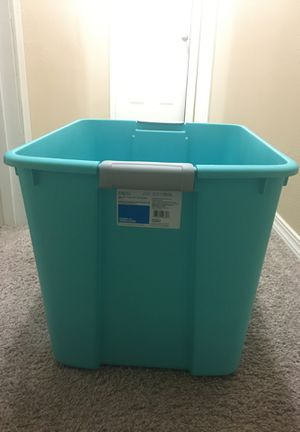 "Sterilite Blue 20 Gallon Storage Container Tote Tub - 22.75""x18.5""x16.25"" for Sale in Seattle, WA"