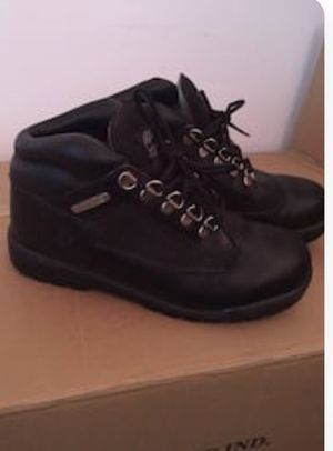 Black Leather Timberland Boots - Big Kids Size 5 1/2. Will fit women size 7 1/2. for Sale in Manassas, VA