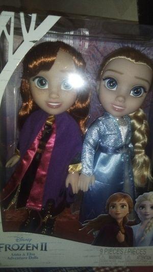 Frozen two Anna and Elsa adventure dolls for Sale in Everett, WA