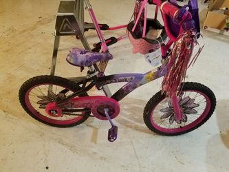 18 inch girls Huffy Tinkerbell bike for Sale in Brighton,  IL