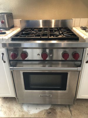 Wolf stove standard size , restaurant quality works great , selling because I'm updating appliances to slate black , a little room for negotiation bu for Sale in Colma, CA