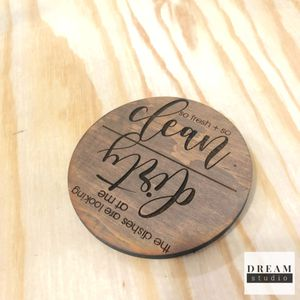 Clean + dirty dishwasher magnet | kitchen decor for Sale for sale  Tacoma, WA