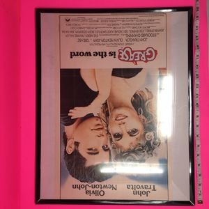 FRAMED GREASE 1981 POSTER for Sale in Washington, DC