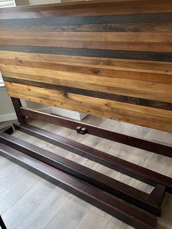 King Size Headboard And Bed Frame for Sale in Raleigh,  NC