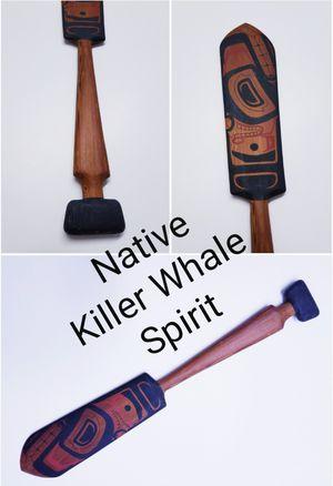 Native Killer Whale Spirit Painted Paddle for Sale in Hillsboro Beach, FL