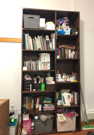 Wood black bookshelves (GOOD CONDITION) for Sale in Brooklyn, NY