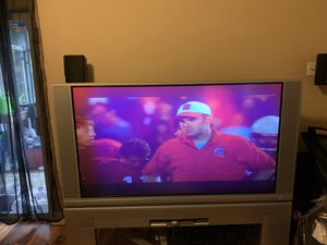"""FREE- Hitachi 60 """" Projection TV & matching stand for Sale in Hillsboro, OR"""
