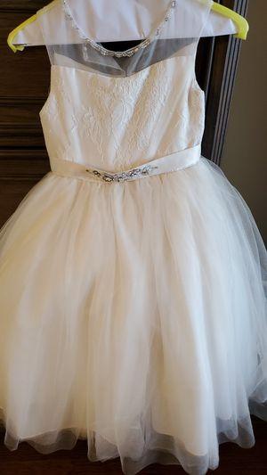 Girls flower girl dress size 6 for Sale in Commerce Charter Township, MI