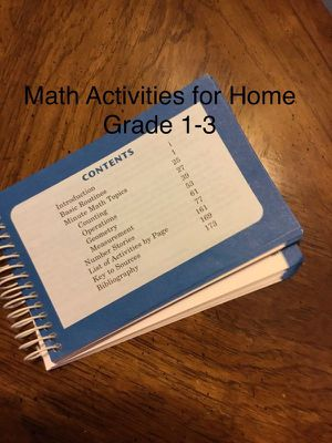Book of At Home Math Problems for Gr 1-3 for Sale in Waynesburg, PA
