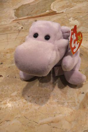Happy 1994 Beanie Baby Hippopotamus Hippo Purple Lilac for Sale in Herndon, VA