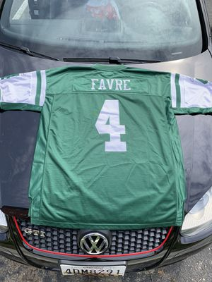 2XL Reebok Brett Favre Stitched Jets Jersey for Sale in Parkville, MD