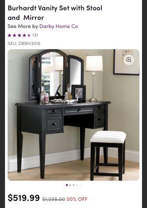 Vanity + stool for Sale in Philadelphia, PA