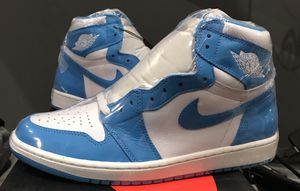 NIKE AIR JORDAN 1 OG RETRO HIGH UNC CHICAGO BRED MONDAY DS SZ 11.5 with Receipt for Sale in Naperville, IL
