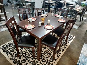 Dining Set 7 Piece, Espresso Color for Sale in Fountain Valley, CA