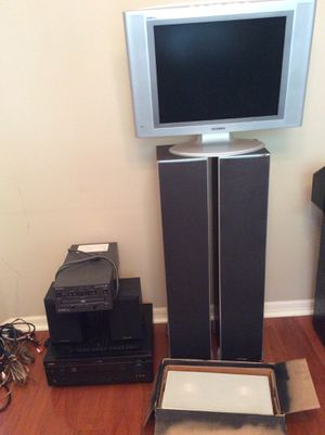 Home theater surround speakers / TV / DVD player / receiver and all cables for Sale in Tampa, FL