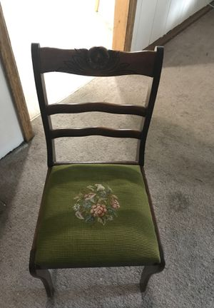 Hand stitched green antique chair for Sale in Sherwood, OR