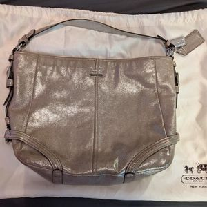 Shimmery Champagne Toned Coach Purse for Sale in Evesham Township, NJ