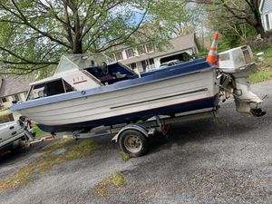 MFG Fishing Boat. Selling as is. With Trailer for Sale in UPPR MARLBORO, MD