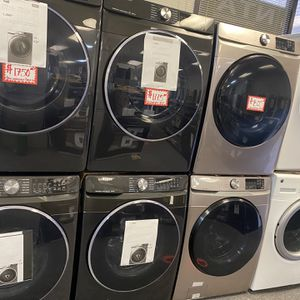 New Scratch&dent Samsung Front Load Washer And Gas Dryer Set 6 Months Warranty for Sale in Laurel, MD