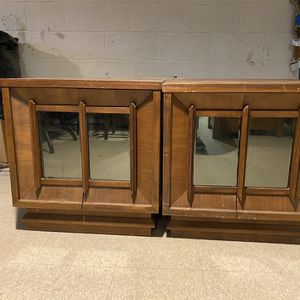 Vintage Mirror Front End Tables for Sale in Monroe Township, NJ