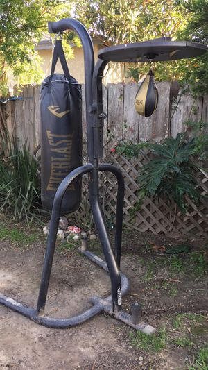 Boxing stand with gloves for Sale in RANCHO SUEY, CA