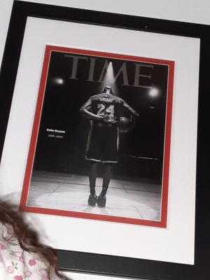 Kobe bryant time magazine picture wall frame for Sale in Los Angeles, CA