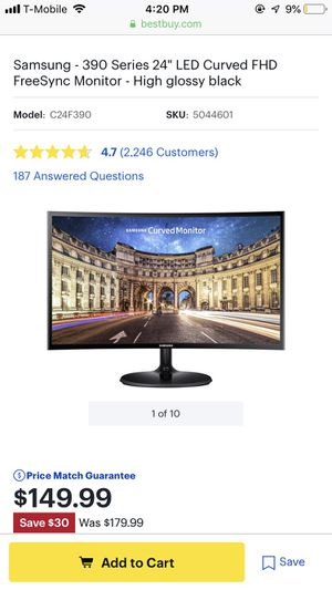 Samsung monitor curved for Sale in Queens, NY