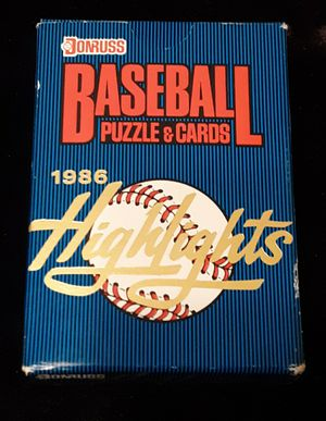 1986 Donruss Highlights Baseball Puzzle & Cards for Sale in Land O Lakes, FL