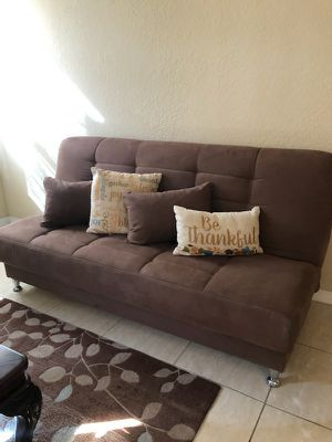 Futon / wood tables/ accent chair / recliner (electric)/ lamp for Sale in Miami, FL