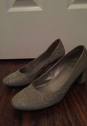 Silver Block Heels by CL Laundry, size 6.5 for Sale in Garland, TX