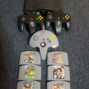 Nintendo 64 N64, All cables, 3 Controls & Choice Of 1! Game! for Sale in Alhambra, CA
