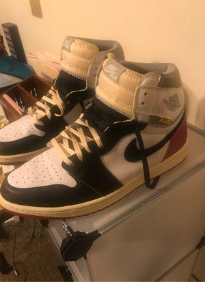 """Air Jordan 1 """"retro UN/LA black toe"""" for Sale in Zachary, LA"""