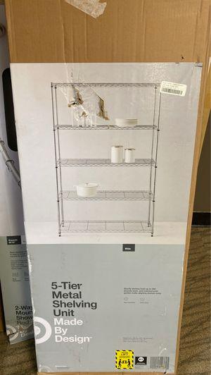 5-Tier Metal shelving unit for Sale in Denver, CO
