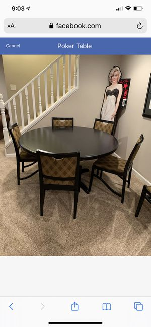 Poker Table for Sale in Mount Prospect, IL