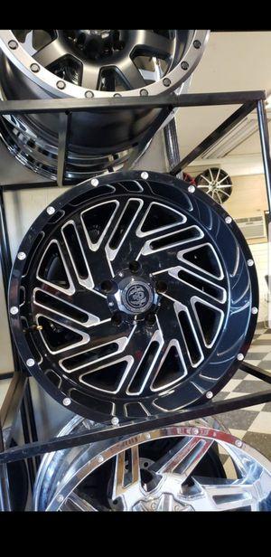 20x10 black hardcore offroad rims 5 lug 5x139 whit New MUD tires 33 1250 20 for Sale in Phoenix, AZ
