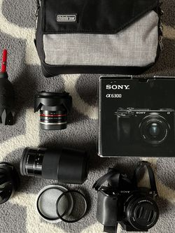 Sony A6300 Bundle With 3 Lenses for Sale in Shoreline,  WA