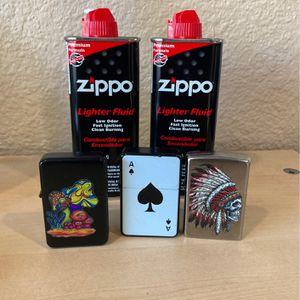 Zippo Lighter Set W/ Fluid for Sale in Escondido, CA