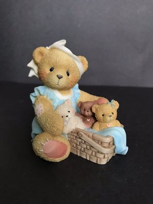 Cherished Teddies Tanna When Your Hands Are Full Figurine Limited Edition for Sale in San Antonio, TX