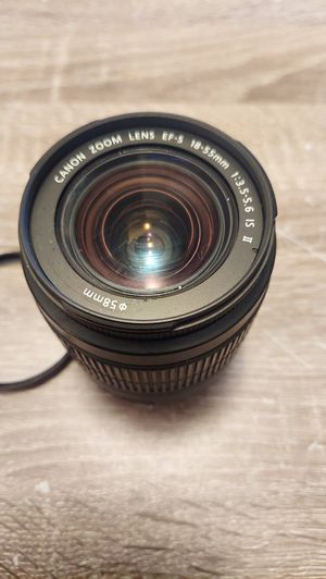 Canon EF-S 18-55mm 1:3.5-5.6 IS II Zoom Lens With Quantary 58mm UV Filter Used for Sale in Miami, FL