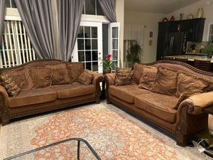 2 Love seat - End table - Coffee Table for Sale in Las Vegas, NV