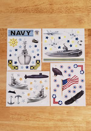 Creative Memories Stars & Stripes NAVY Stickers for Sale in Fontana, CA