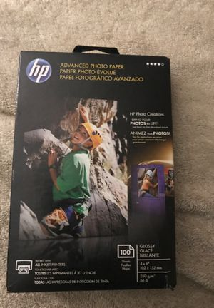 HP Advanced photo paper for Sale in Oklahoma City, OK
