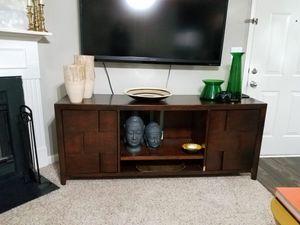 Dark Tone Wood TV Stand for Sale in Warner Robins, GA