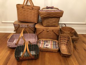 Longaberger baskets for Sale in Murfreesboro, TN