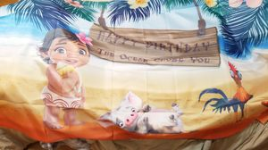 Disney's Moana birthday banner for Sale in Downers Grove, IL