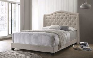 King Beige Bed. New in Boxes. Only one available. for Sale in Montgomery, AL